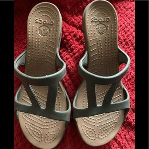 Crocs woman's brown sandals size 7